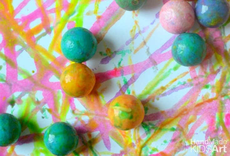 Action Painting with Gumballs