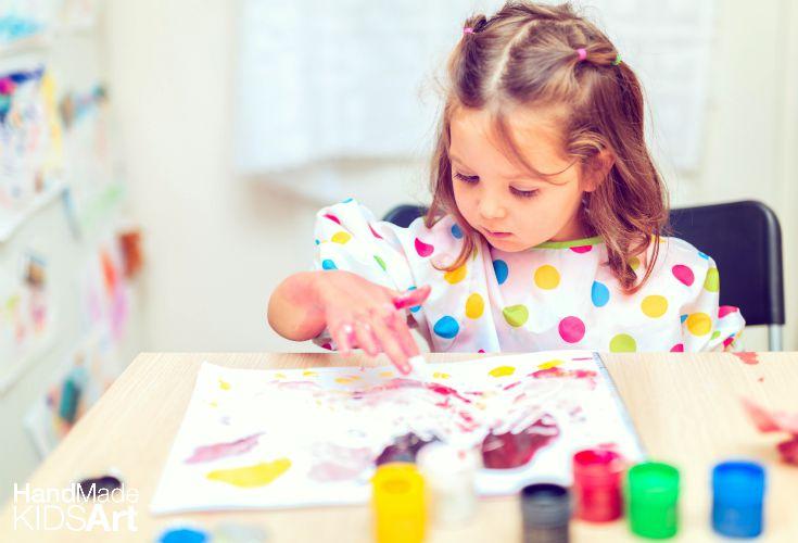 girl finger painting
