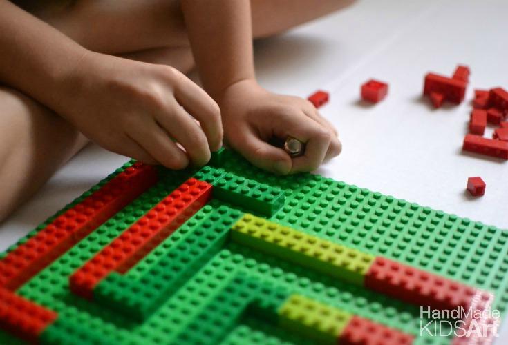 lego maze b building