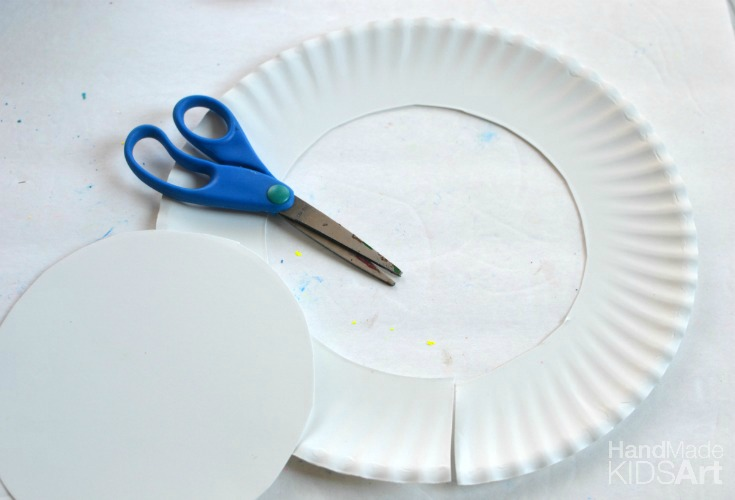 paper wreath paper plate