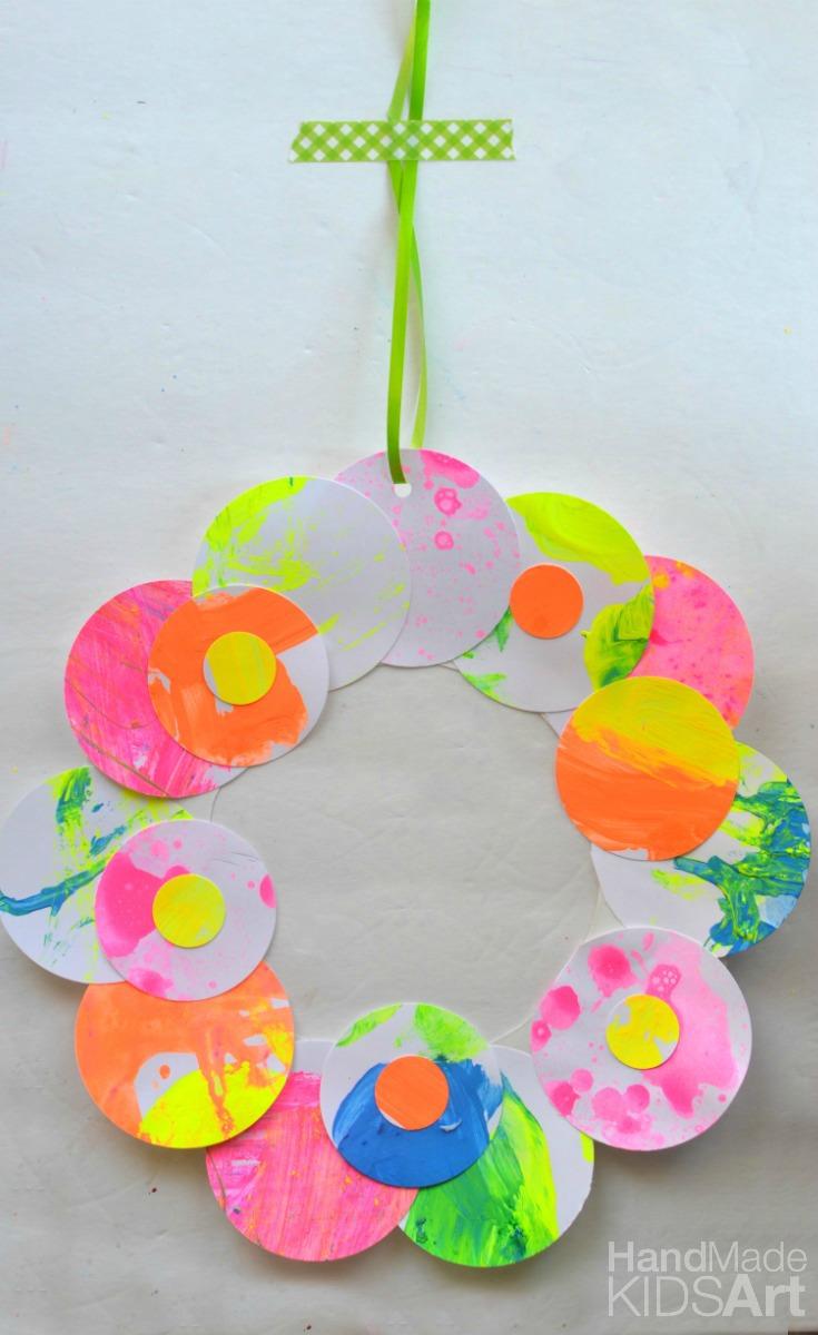 paper wreath pin blank