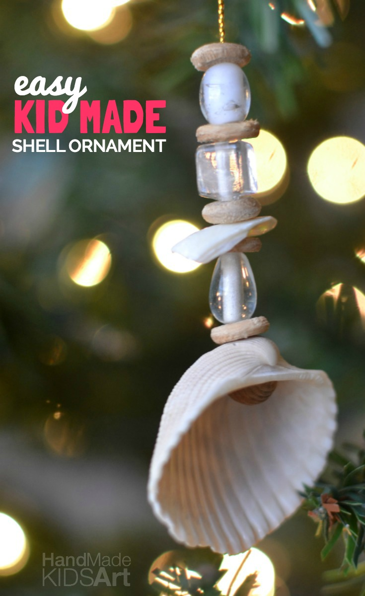 shell ornament text pin