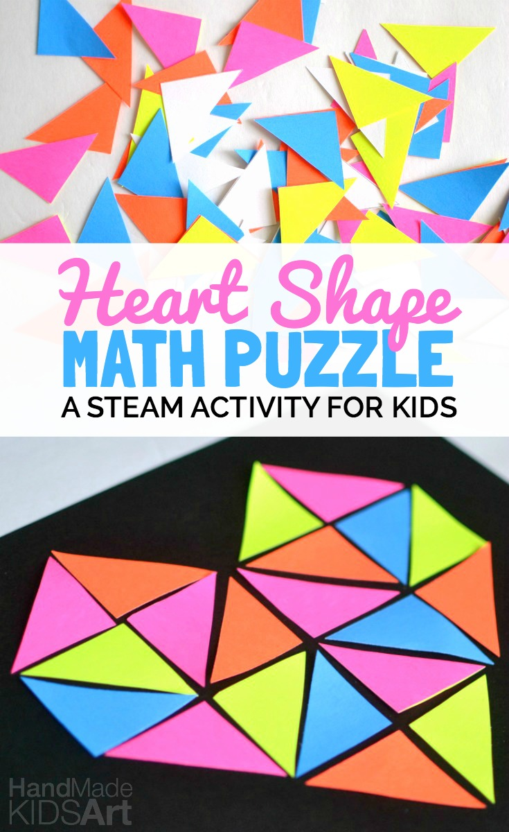 Heart Shape Math Puzzle: STEAM Activity for Kids