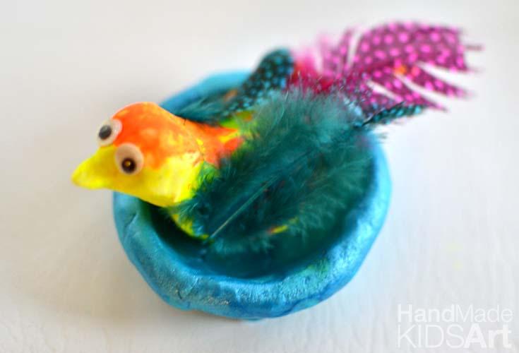 Clay Bird for Kids