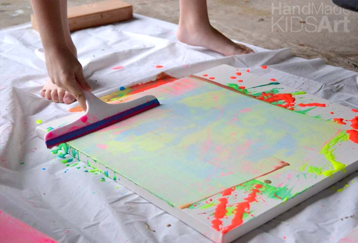 Chihuly Action Painting for Kids