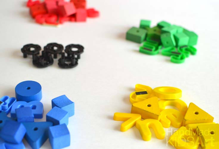 olympic rings loose parts materials