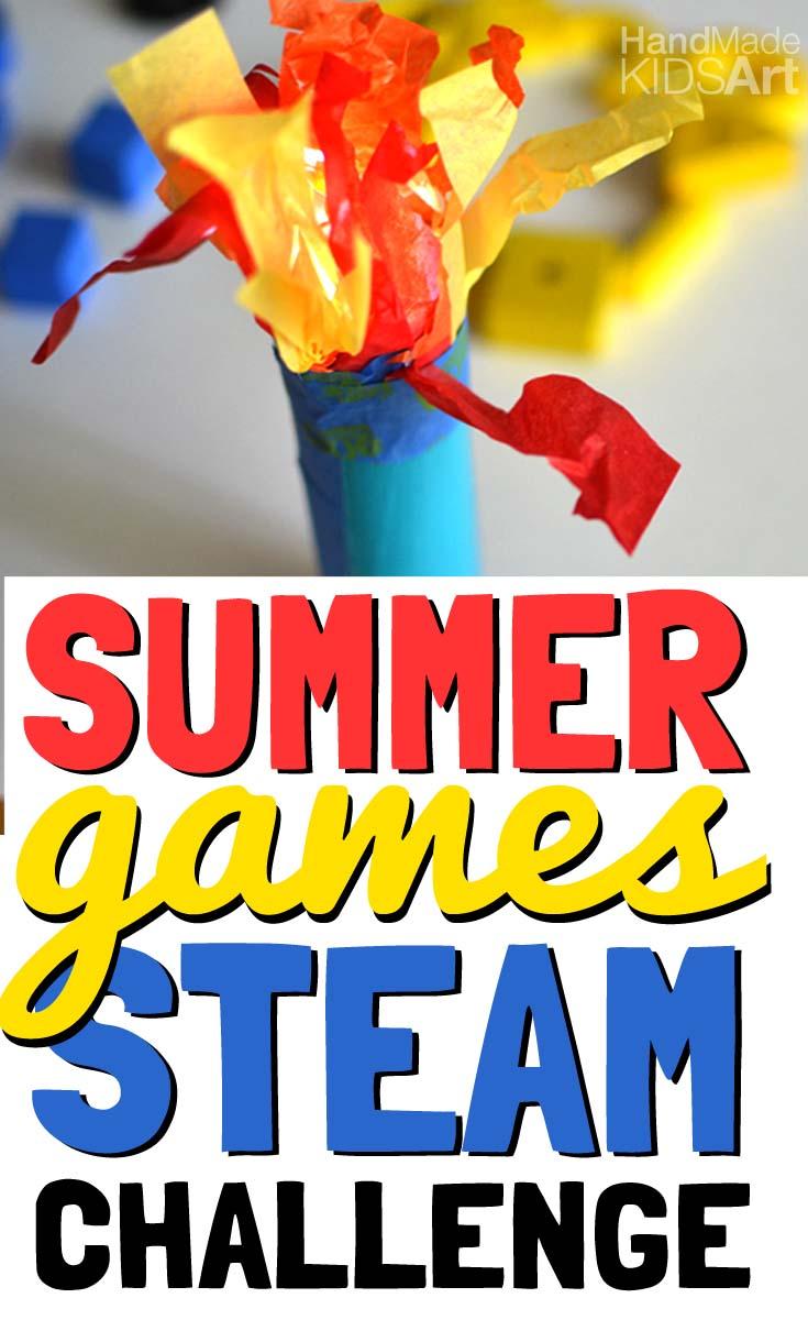 summer games pin torch