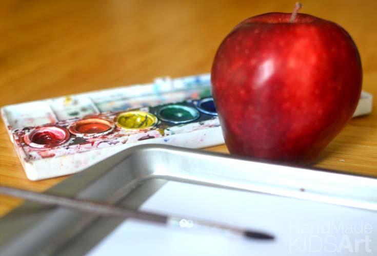paint a apple corner