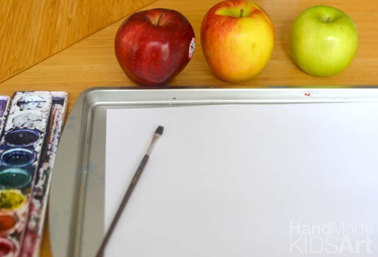 paint apples set up