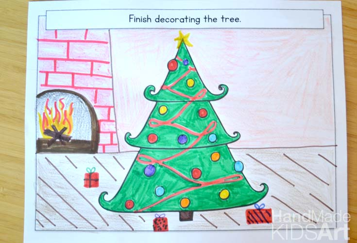 Creative Christmas Drawing Ideas For Kids Innovation Kids Lab